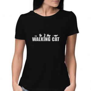 The-Walking-Cat-Black-T-Shirt