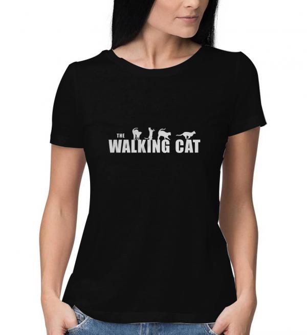 The-Walking-Cat-Black-T-Shirt
