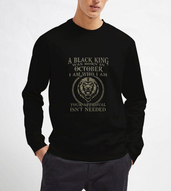 Black-King-Was-Born-in-October-Sweatshirt