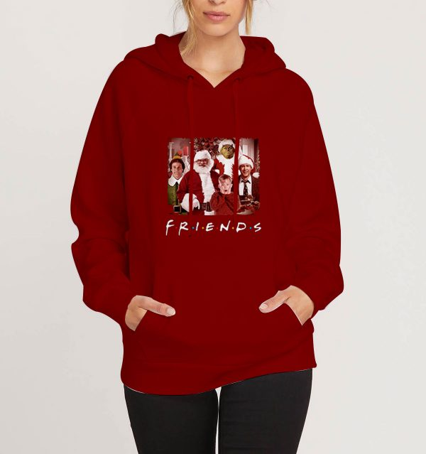 Christmas-Movies-Friends-TV-Show-Maroon-Hoodie